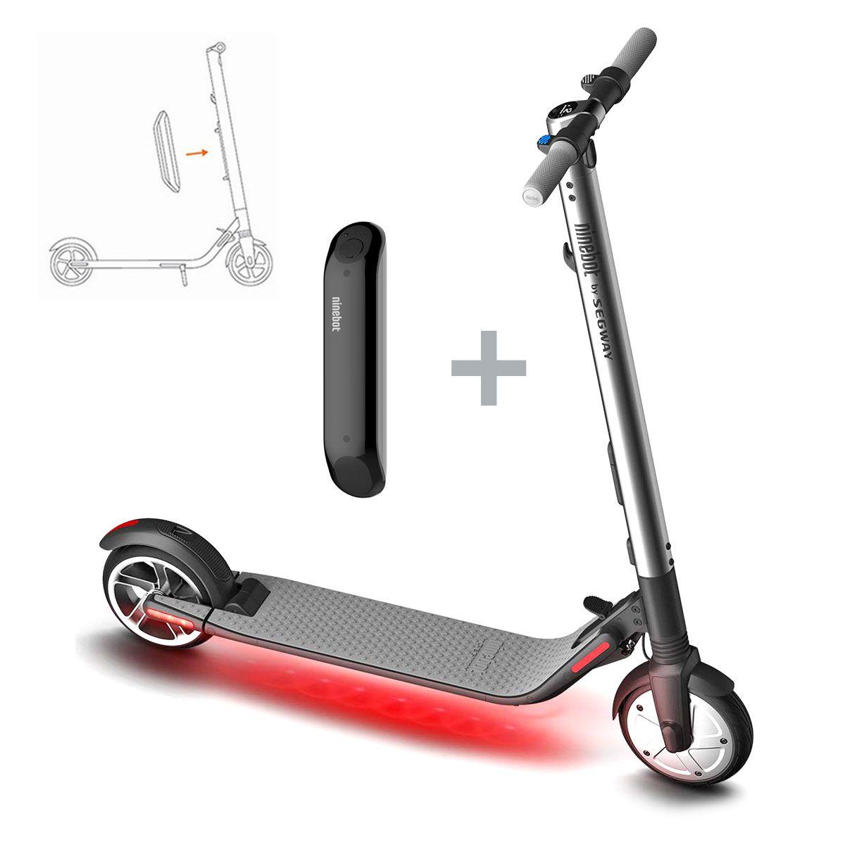 Scooter Electrico Segway Kickscooter Es2 + Batería Extra
